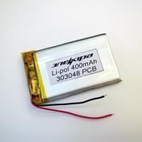 Аккумулятор Li-pol 303048 3.7V 400mAh PCB 24W