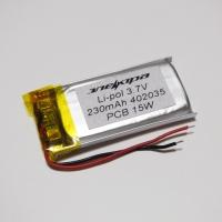 Аккумулятор Li-pol 402035 3.7V 230mAh PCB 15W