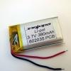 Аккумулятор Li-pol 602035 3.7V 380mAh PCB 15W
