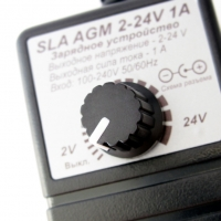 Зарядное устройство для SLA, GEL 2-24V 1A